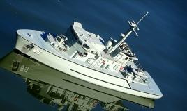 <h5>HMAS GASCOYNE</h5><p>A Huon class Minehunter circa 2010.  Builder: Mark Buttsworth, FB Greater Sydney</p>